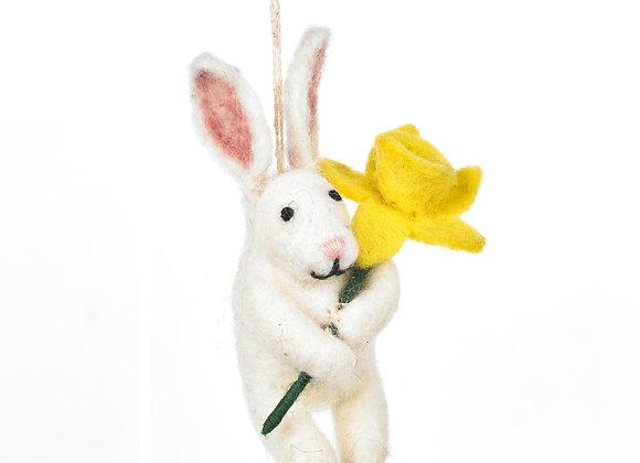Handmade Felt Delilah Bunny Hanging Easter Decoration