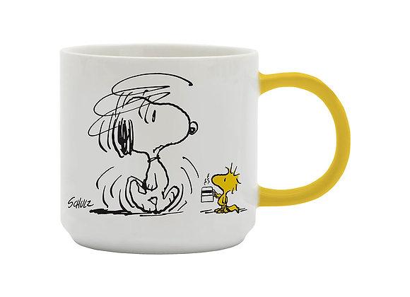 Peanuts Mug: I'm not worth a thing before coffee
