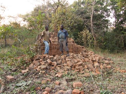 Gua School bricks ready