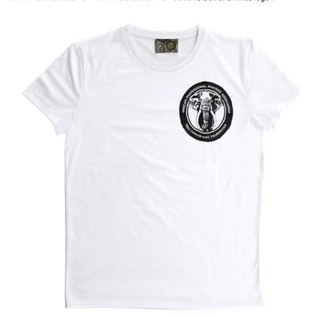APHA White tee with black and white logo