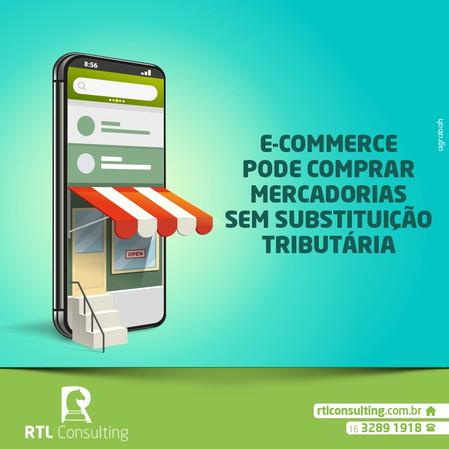 E-commerce pode comprar mercadoria sem substituição tributária