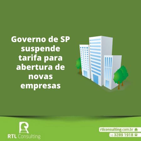 Governo de SP suspende tarifa para abertura de novas empresas