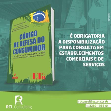 Código de defesa do consumidor Disponibilização Obrigatória para Consulta em Estabelecimentos Comerc