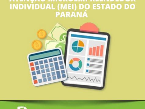 Atenção Microempreendedor Individual (MEI) do Estado do Paraná!