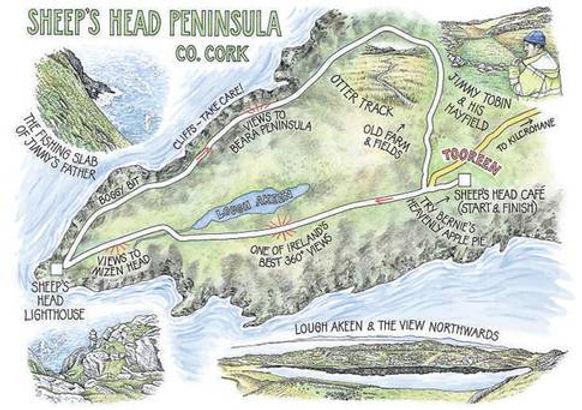 sheeps Head Map, the sheeps head way