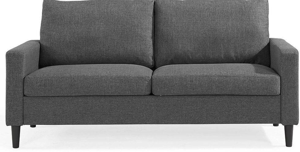 "72.5"" Woven Fabric Apartment Sofa Gray - Mainstays"