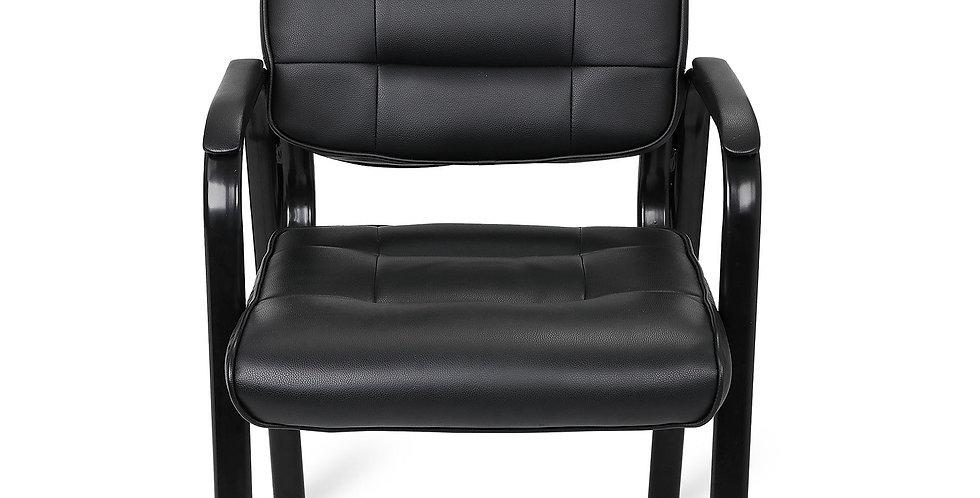 Classic Black Leather Home Office Armrest Ergonomics Chair