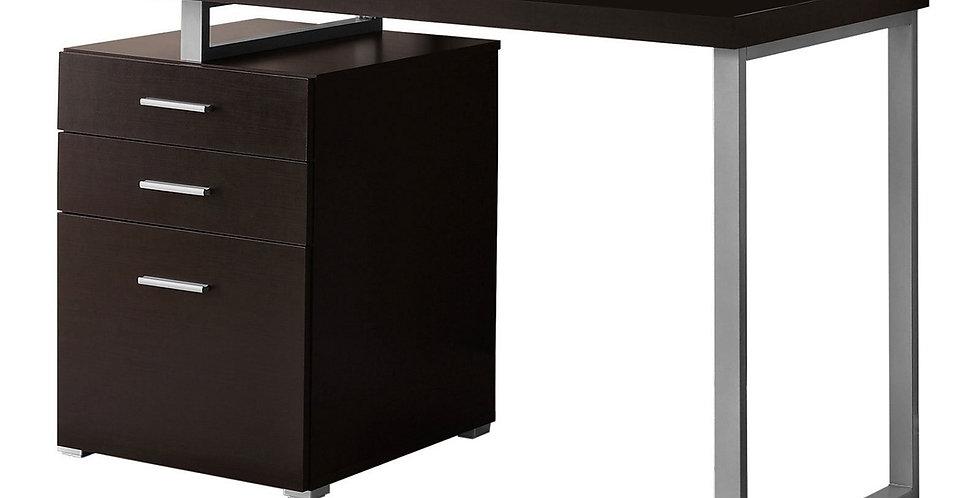 """48""""L Contemporary Monarch Computer Desk Cappuccino"""