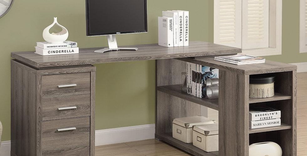 Monarch Specialties Hollow-Core Left or Right Facing Corner Desk - Grey