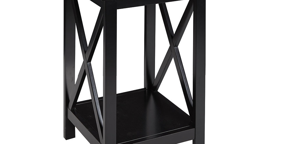 Better Homes & Gardens X Cross Bar Design Square Table - Black Wood