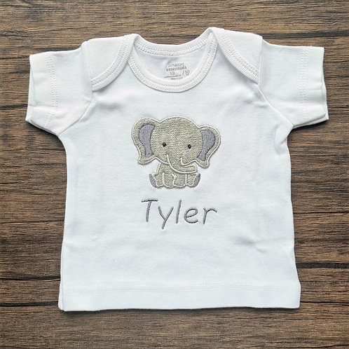 Embroidered Applique Elephant T-Shirt