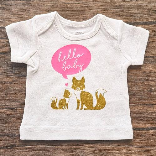 Hello Baby Vinyl T-Shirt
