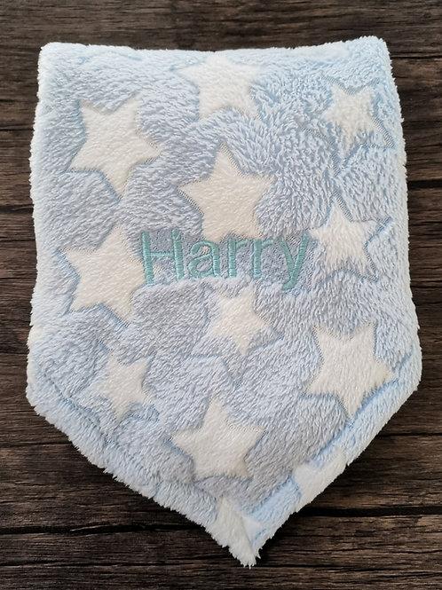 Blue Stars Print Fleece Blanket