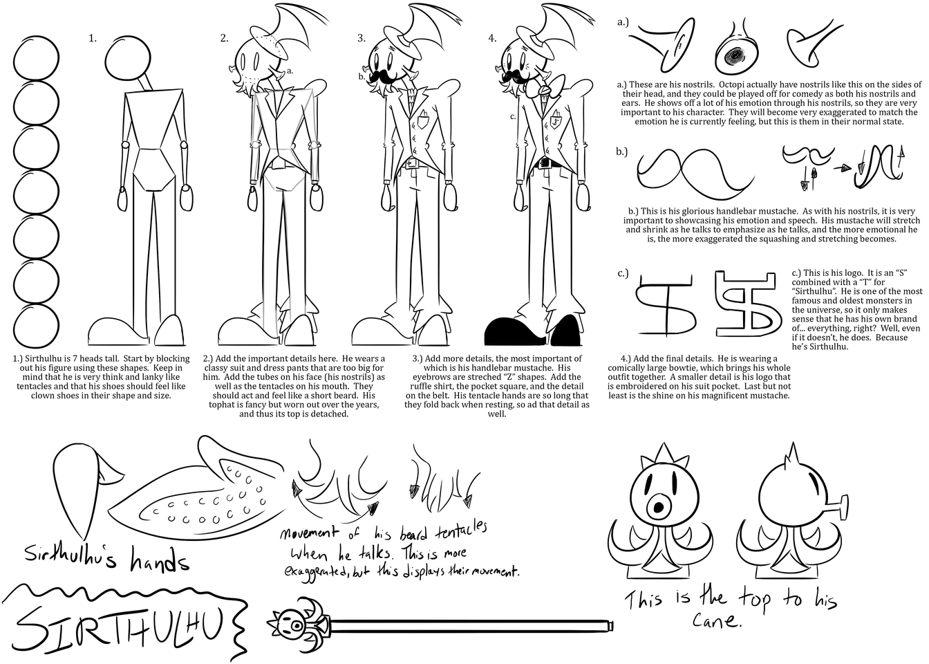 Sirthulhu Model Sheet