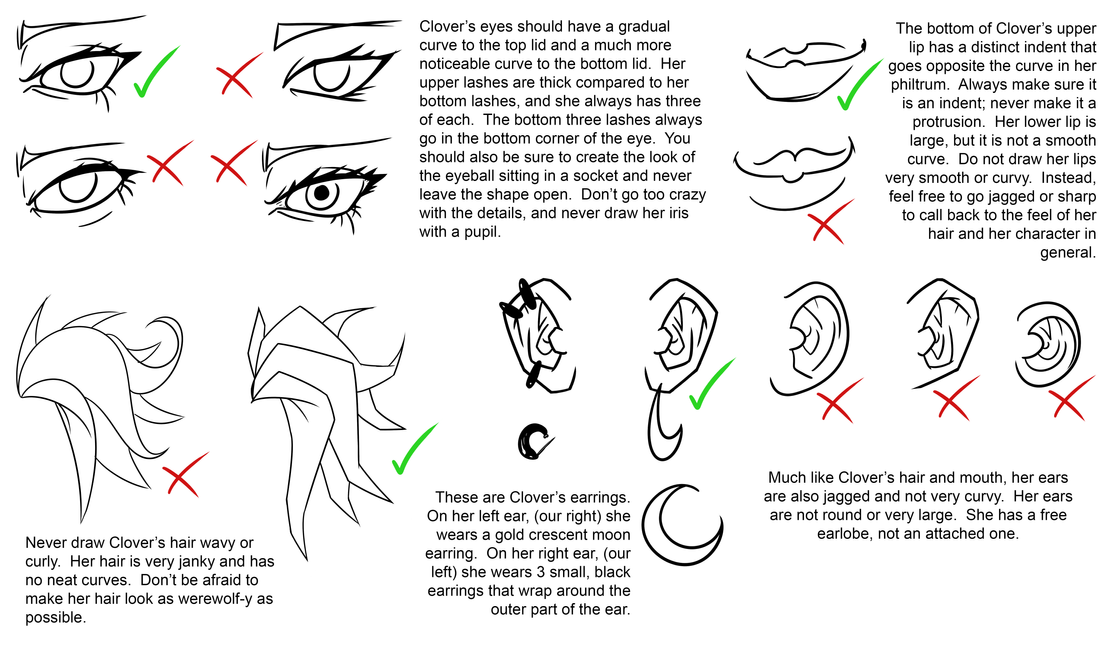 Clover Model Sheet Page 2