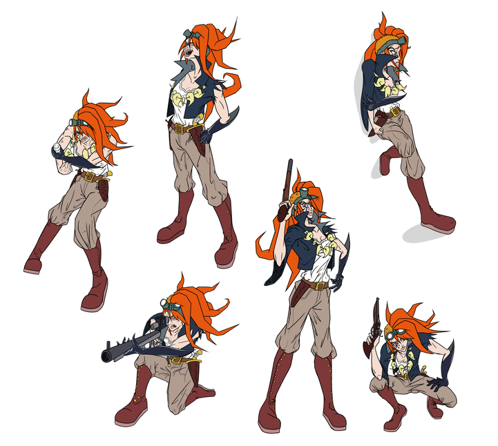 Clover Action Poses