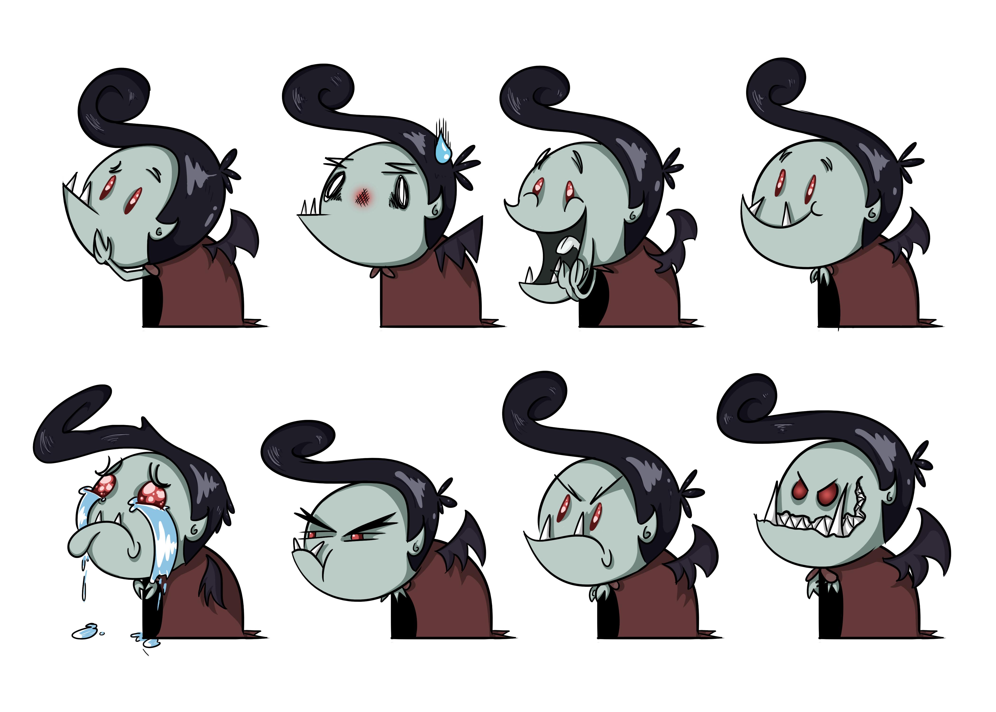 Baby Dracula Expressions
