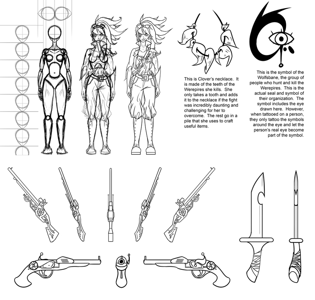 Clover Model Sheet Page 1