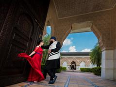 punjabi couple posing in astaka morocco putrajaya