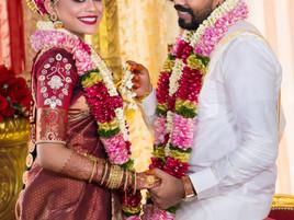 indian wedding bride and groom posing malaysia