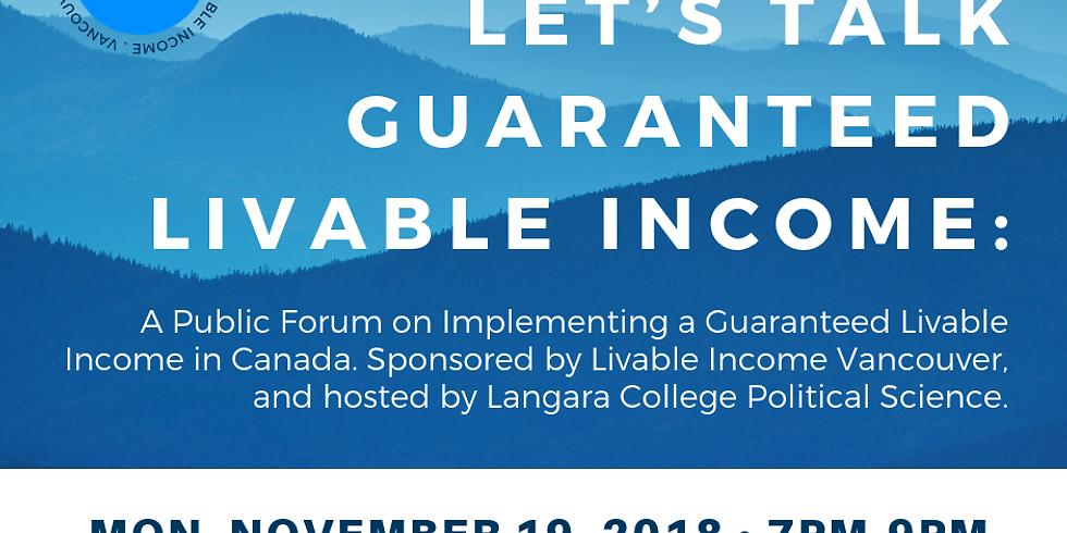 Let's Talk Guaranteed Livable Income