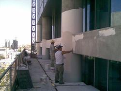 חזית מגדל אלקו - שלבים עבודה