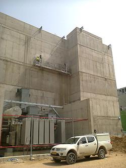 תחנת הכוח באשקלון - הכנת בטון