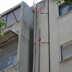 נזילות לקיר הבניין