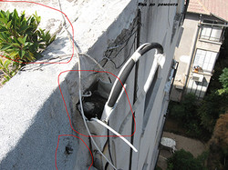 נזילה בגג בניין
