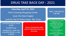 Drug Take-Back Day - Sat. April 24, 2021 @ Penn Crossing