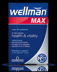 Vitabiotics Wellman Max (28 Tablets/28 Capsules/28 Tablets)