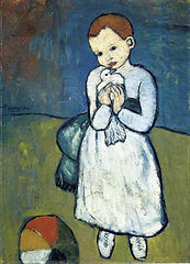 Child with a dove by Pablo Picasso - 1901