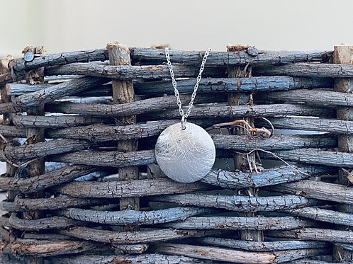 Hammered Sphere Sterling Silver Necklace