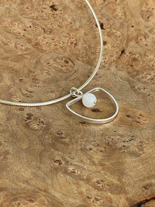 Archway Moonstone & Sterling Silver Necklace
