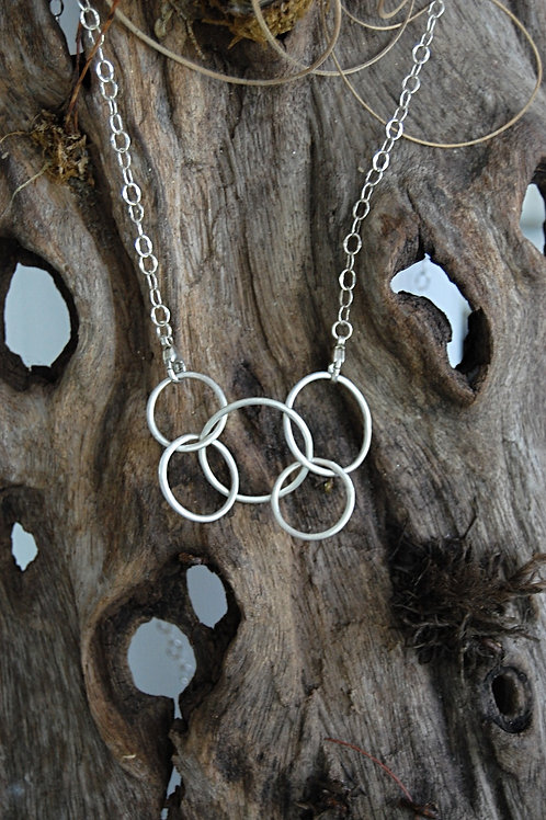Movable rings pendant  - Sterling silver
