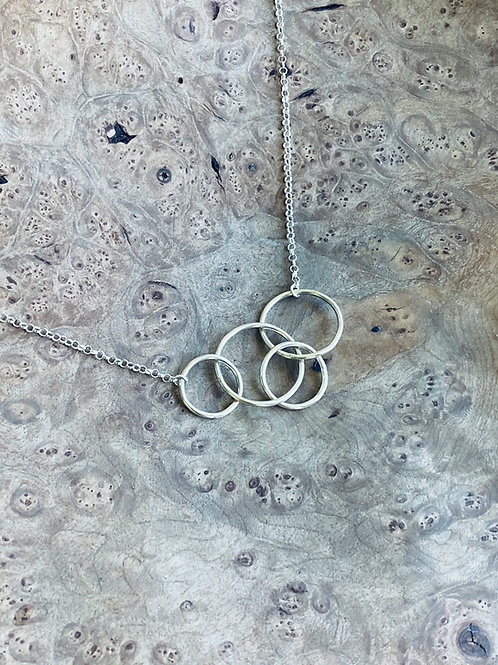 Four circles together necklace - Sterling silver