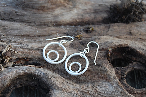 Circles earrings - Sterling silver