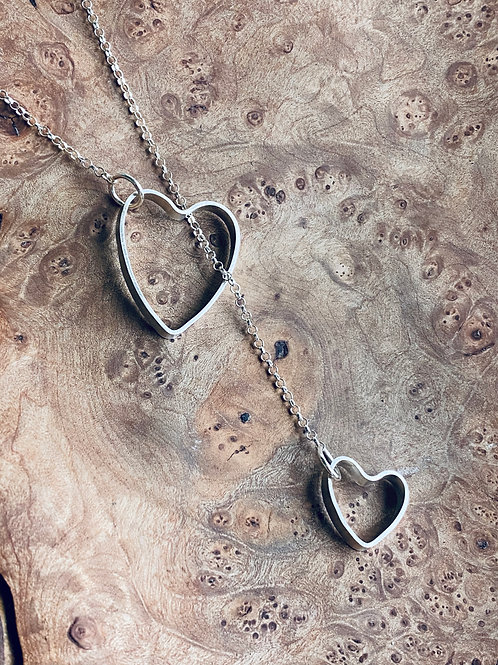 Hearts necklace - Sterling silver