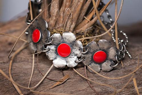 Bouquet Resin & Sterling Silver Bracelet