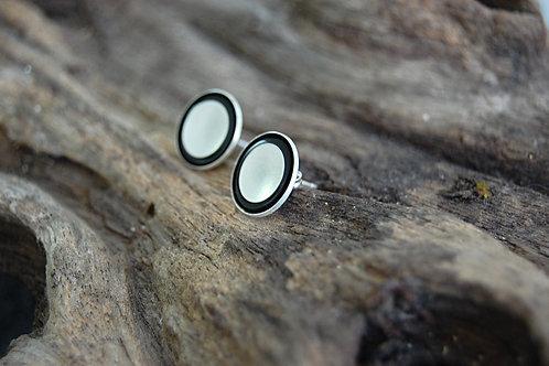 Halo Resin & Sterling Silver Earrings