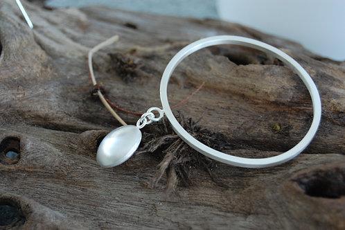 Brilliant Sphere Sterling Silver Bangle