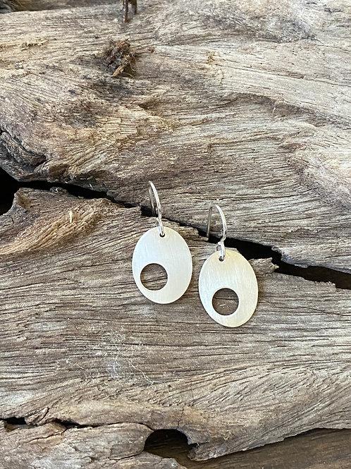 Oval earrings - Sterling silver