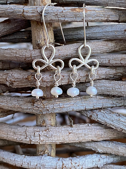 Freshwater Pearl & Sterling Silver Chandelier Earrings
