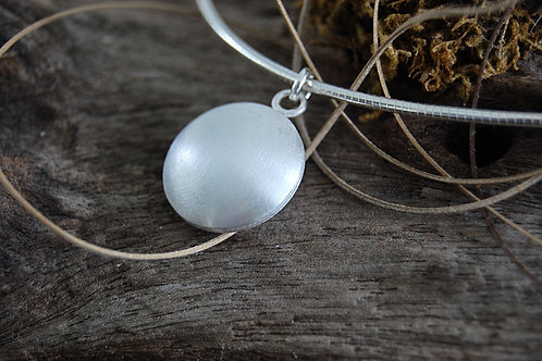 Brilliant Sphere Sterling Silver Necklace