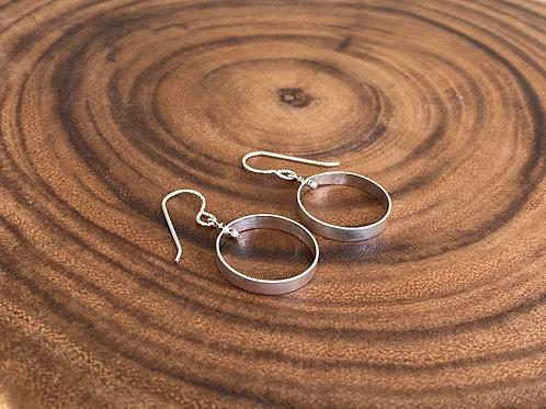 Sterling Silver Single Circle Earrings