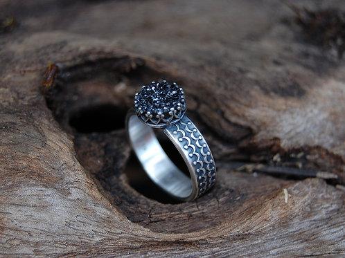 Regal Druzy Quartz & Sterling Silver Ring