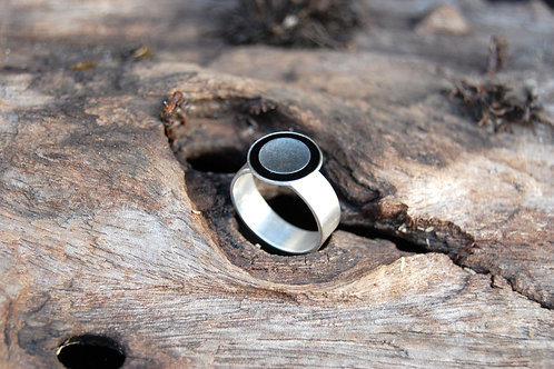 Resin ring - Sterling silver