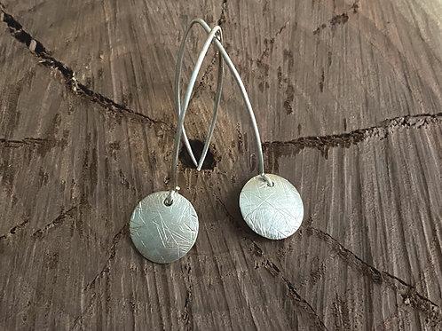 Hammered Sphere Sterling Silver Earrings