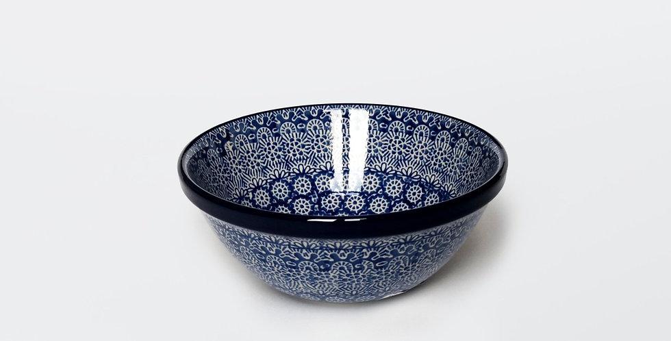 Large Cereal Bowl in Blue Trellis