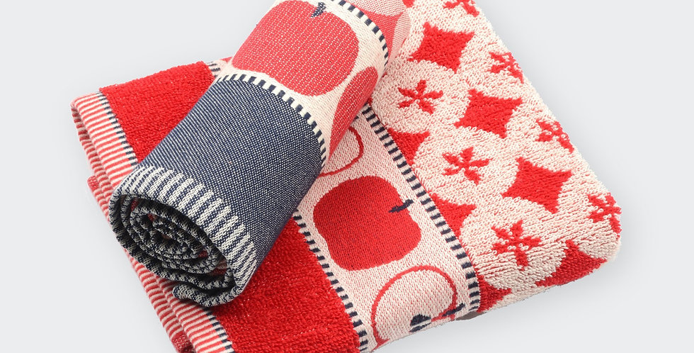 Hand Towel in Red Apple